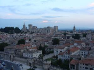 vue de la grande roue sur Avignon