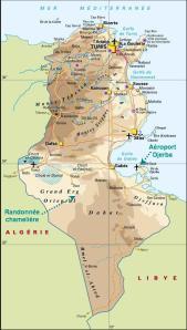 carte de la Tunisie-cliquez pour agrandir
